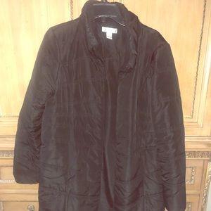 Motherhood sz L black puffer knee length coat